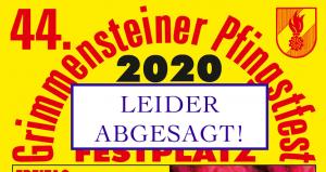 Pfingstfest 2020 abgesagt !
